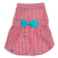 Worthy Dog Gingham Chomp Dog Dress