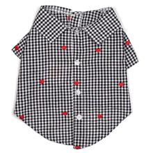Worthy Dog Gingham Hearts Dog Shirt