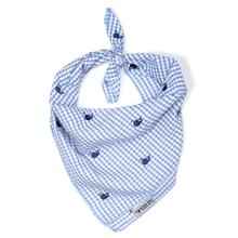 Worthy Dog Gingham Whales Dog Bandana