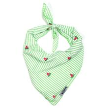 Worthy Dog Green Stripe Watermelon Dog Bandana
