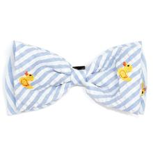 Worthy Dog Blue Stripe Rubber Duck Dog and Cat Bow Tie Collar Attachment