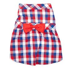 Worthy Dog Red, White & Blue Check Dog Dress