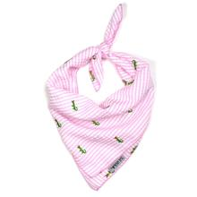 Worthy Dog Pink Stripe Alligator Dog Bandana