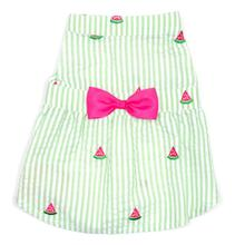 Worthy Dog Green Stripe Watermelon Dog Dress