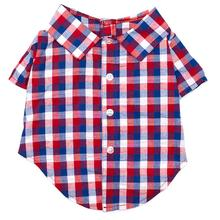 Worthy Dog Red, White & Blue Check Dog Shirt