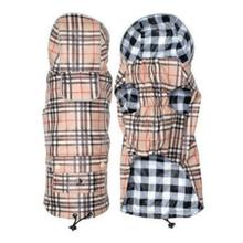 Worthy Dog London Dog Raincoat - Tan Plaid/Checkered