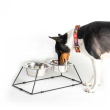 Worthy Dog M-Series Double Bowl Dog Feeder