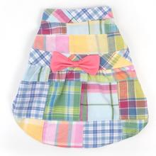 Worthy Dog Madras Pastel Dog Dress