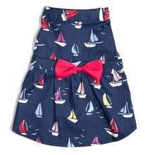 Worthy Dog Navy Sailboats Dog Dress