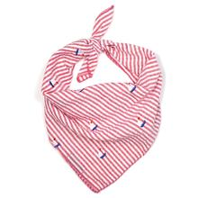 Worthy Dog Red Stripe Sailboat Dog Bandana