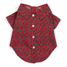 Worthy Dog Paisley Red Dog Shirt
