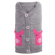 Worthy Dog Pig Dog Cardigan - Gray