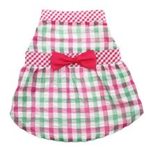 Worthy Dog Pink Checkered Dog Dress