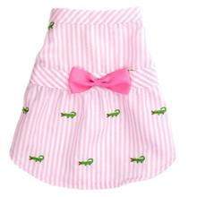 Worthy Dog Pink Stripe Alligator Dog Dress