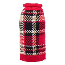 Worthy Dog Plaid Dog Sweater - Red