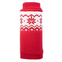 Worthy Dog Fairisle Snowflake Dog Sweater - Red
