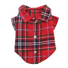 Worthy Dog Red Plaid Dog Shirt