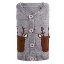 Worthy Dog Reindeer Dog Cardigan - Gray