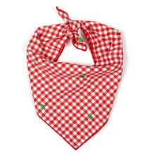 Worthy Dog Trees Flannel Check Dog and Cat Bandana