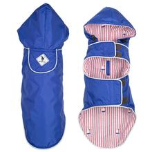 Worthy Dog Seattle Slicker Dog Raincoat - Blue/Sailboat