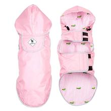Worthy Dog Seattle Slicker Dog Raincoat - Pink/Alligator