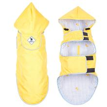 Worthy Dog Seattle Slicker Dog Raincoat - Yellow/Rubber Duck