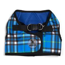 Worthy Dog Sidekick Plaid Printed Dog Harness - Blue
