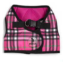Worthy Dog Sidekick Plaid Printed Dog Harness - Hot Pink