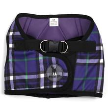 Worthy Dog Sidekick Plaid Printed Dog Harness - Purple