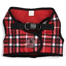 Worthy Dog Sidekick Plaid Printed Dog Harness - Red