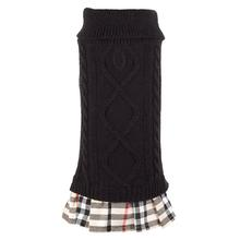 Worthy Dog Turtleneck Dog Dress - Black