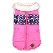 Worthy Dog Aspen Puffer Dog Jacket - Pink