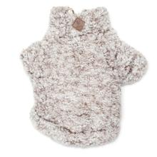 Worthy Dog Wubby Fleece Quarter Zip Dog Pullover - Ivory