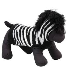 Worthy Dog Zebra Dog Hoodie - Black/White