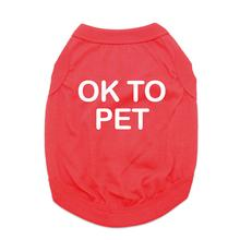 OK to Pet Dog Shirt - Red