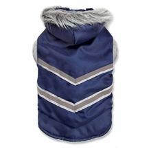 Zack and Zoey Arctic Reflective Dog Coat - Navy Blue
