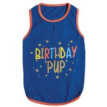 Zack & Zoey Birthday Pup Dog Tank - Blue