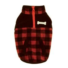 Zack & Zoey Buffalo Plaid Fleece Dog Jacket - Red