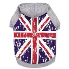 Zack and Zoey Distressed-Look British Flag Dog Hoodie