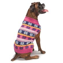 Zack and Zoey Elements Bright Snowflake Sweater - Pink