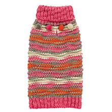 Zack and Zoey Elements Chunky Pom-Pom Dog Sweater - Pink