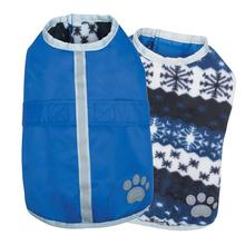 Zack and Zoey Nor'easter Dog Blanket Coat - Blue