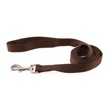 Zack and Zoey Nylon Dog Leash - Chocolate