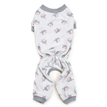 Zack and Zoey Dog Pajamas - Silver with Polka Dot Elephants