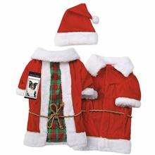 Zack and Zoey Radiant Tartan Vintage Santa Dog Costume