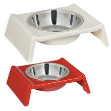 Retro Raised Melamine Dog Bowl