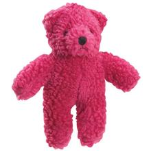 Zanies Berber Bear Dog Toy - Cranberry