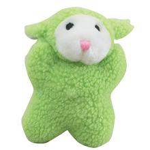 Zanies Cuddly Berber Babies Dog Toy - Green Lamb