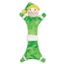 Zanies Festive Unstuffies Dog Toy - Elf