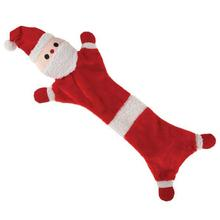 Zanies Festive Unstuffies Dog Toy - Santa